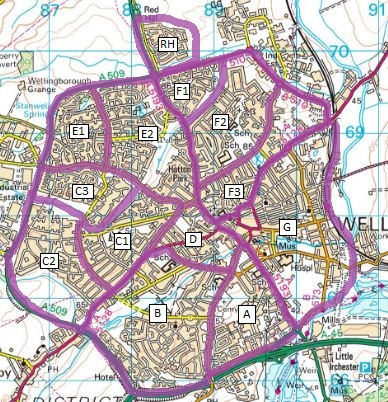 Wellingborough_leaflet_delivery_map